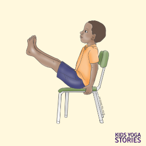 boat pose chair poses for kids | Kids Yoga Poses