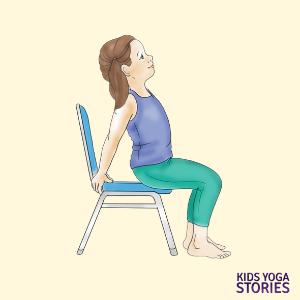 chair poses for kids | Kids Yoga Poses