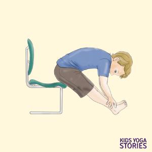 Seated forward Bend | Kids Yoga Stories