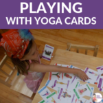 playing with yoga cards for kids | Kids Yoga Stories