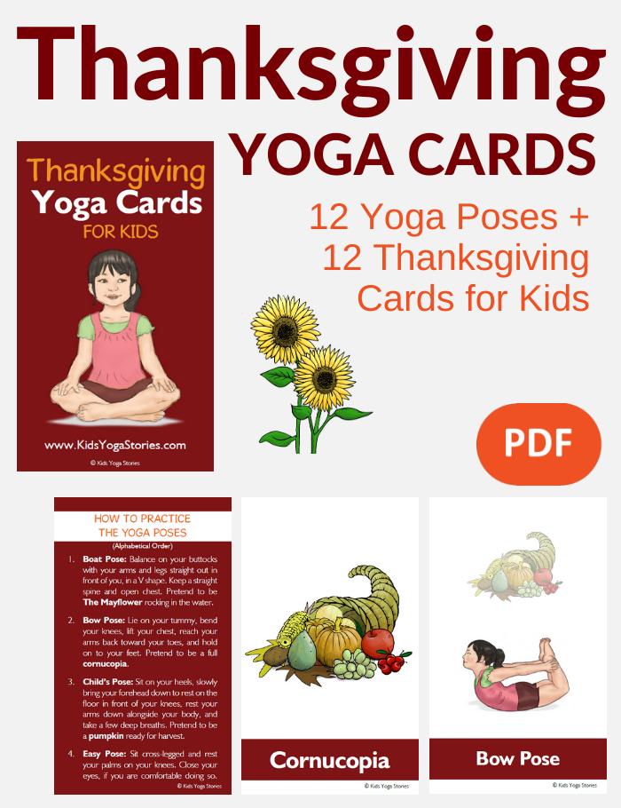 thanksgiving activities for kids, thanksgiving yoga, grateful yoga, gratitude yoga | Kids Yoga Stories