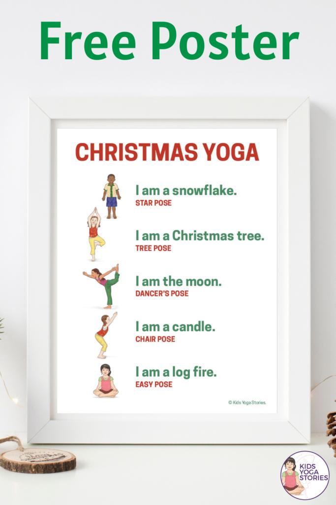 Free Christmas Yoga Poster for Kids | Kids Yoga Stories