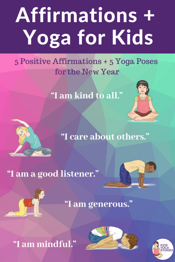 5 Affirmations for Kids + 5 Yoga Poses | Kids Yoga Stories
