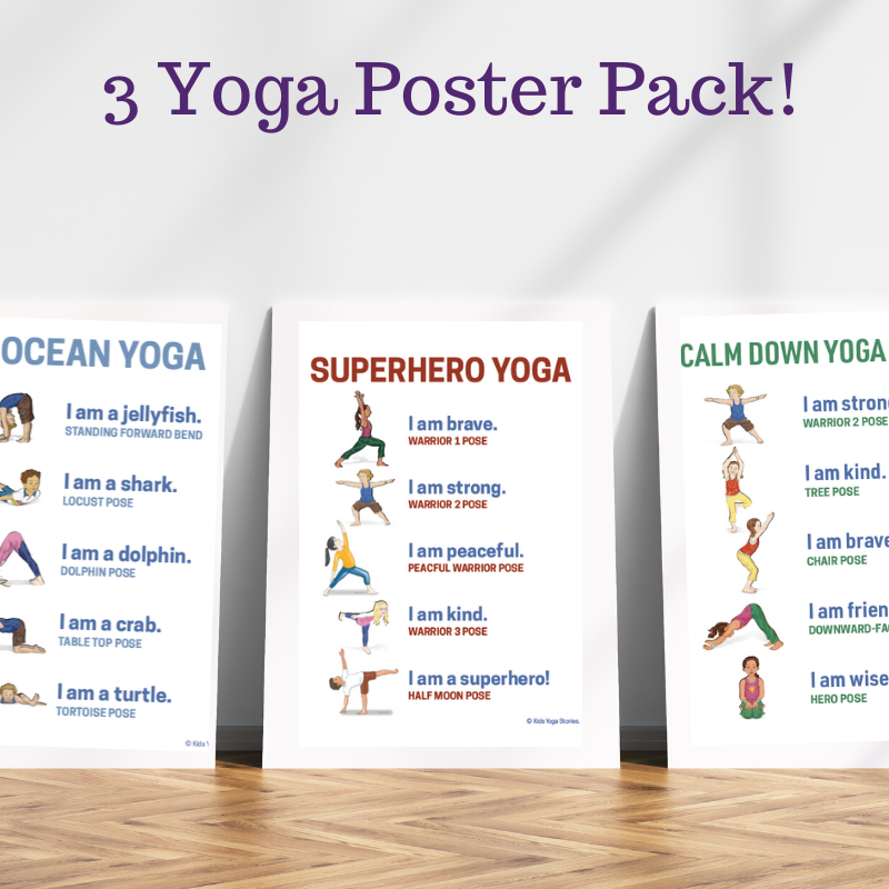 free yoga pose posters | Kids Yoga Stories