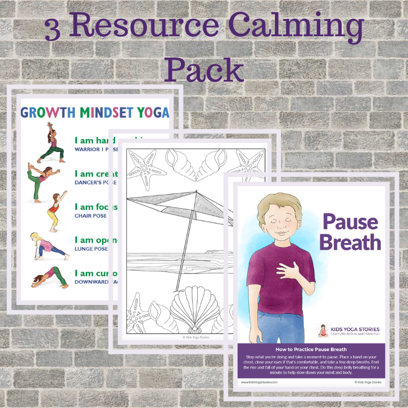 calming exercise pack | Kids Yoga Stories