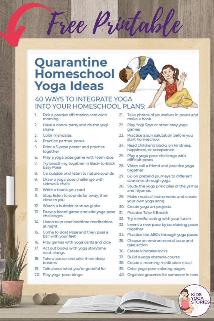 homeschool free printables yoga ideas | Kids Yoga Stories