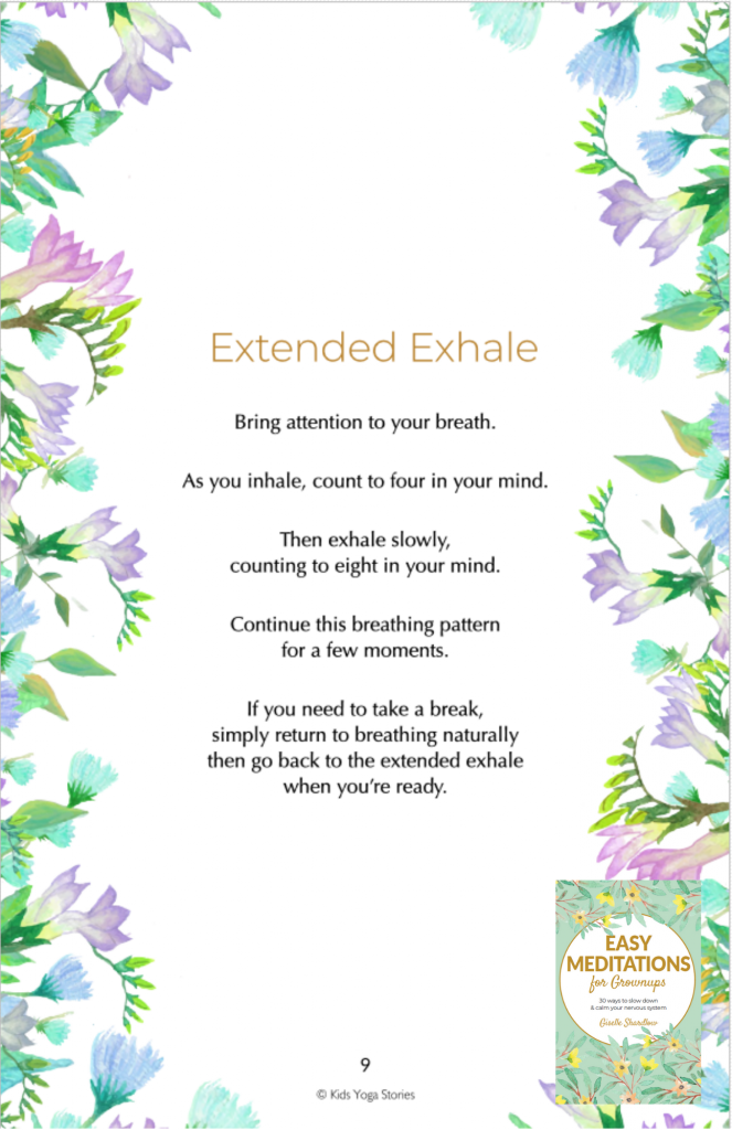 extended exhale breath | Kids Yoga Stories
