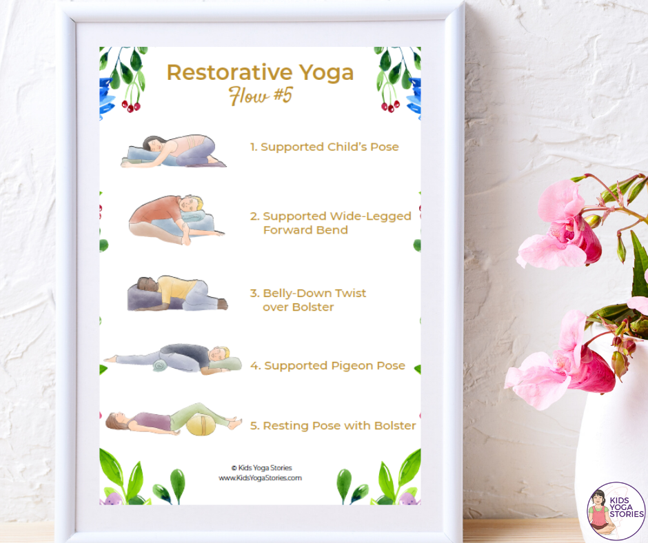 restorative yoga for adults | Kids Yoga Stories