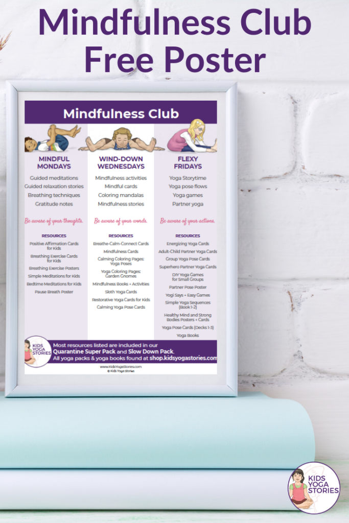 mindfulness club ideas for kids | Kids Yoga Stories