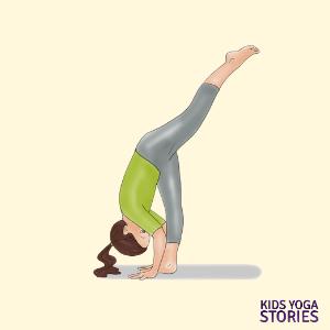 standing split pose for kids | Kids Yoga Stories