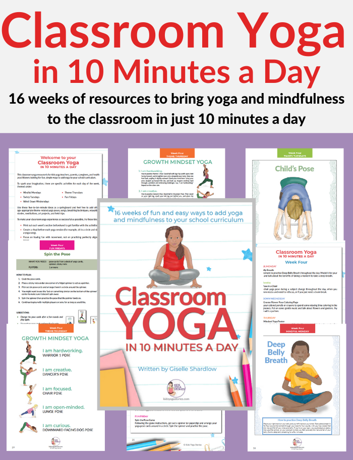 Classroom Yoga in 10 Minutes a Day Workbook | Kids Yoga Stories