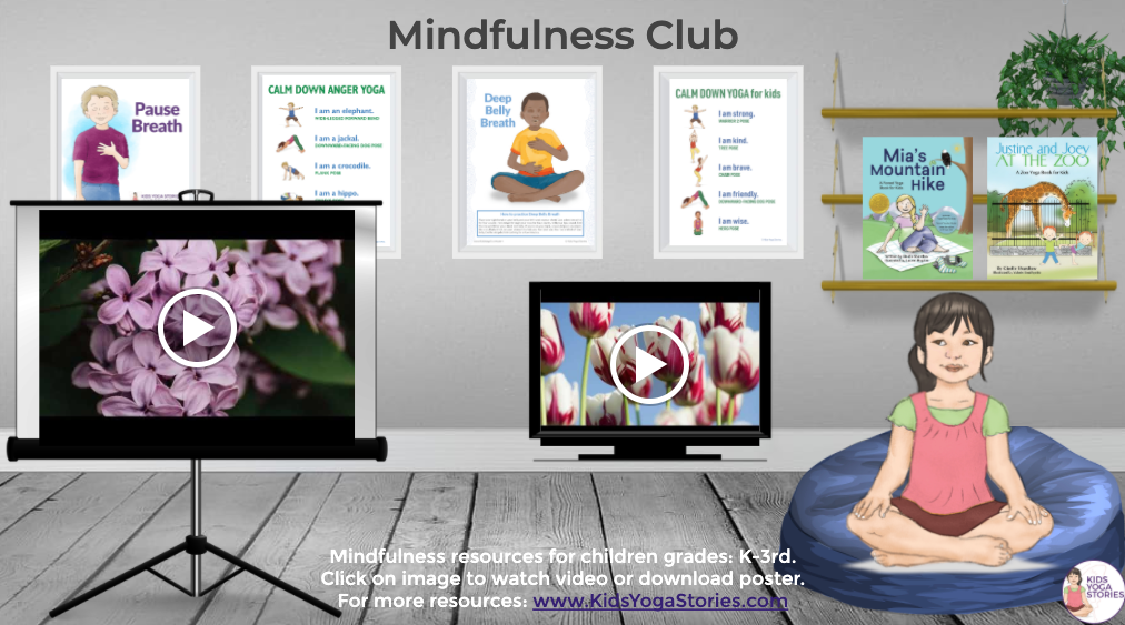 Mindfulness Club for K-3rd grade google slide to share | Kids Yoga Stories