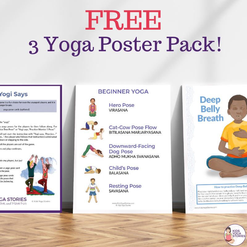 free kid yoga pose resources