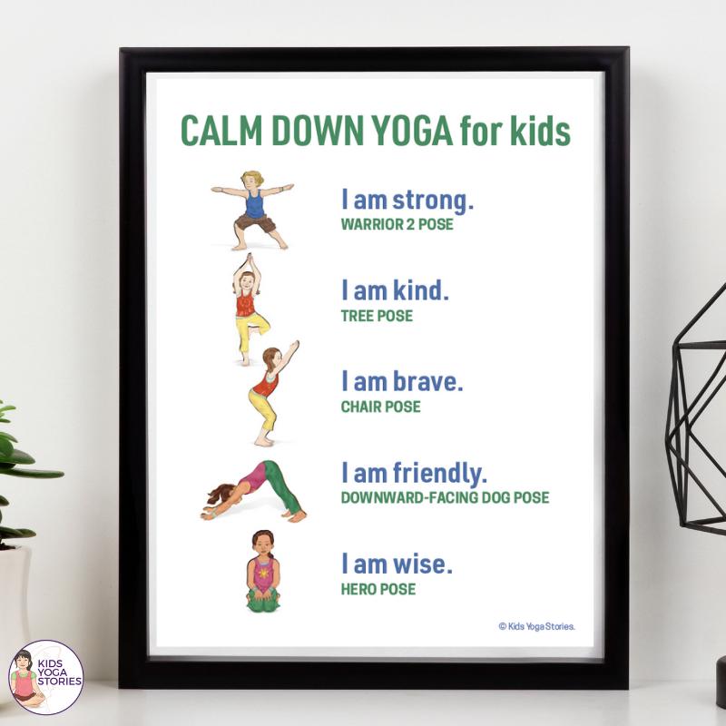 Free Yoga Poster - Calm Down with Yoga | Kids Yoga Stories
