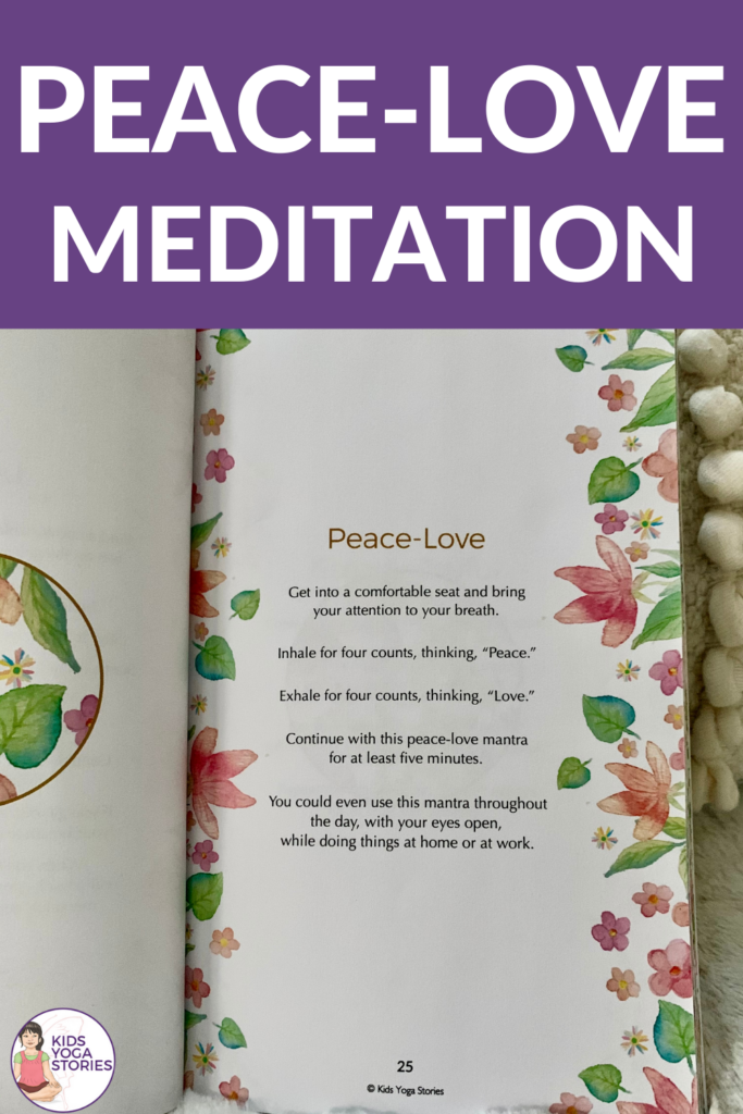 Peace-Love Meditation. Simple way to calm and soothe | Kids Yoga Stories