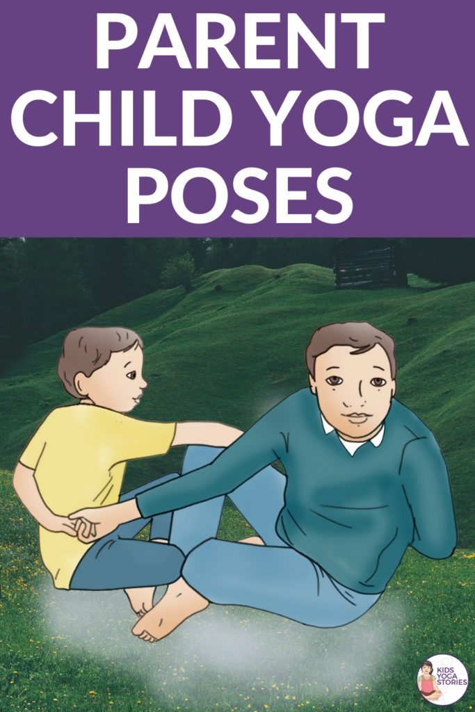 parent-child-yoga poses, adult-child yoga poses that are fun and easy! | Kids Yoga Stories