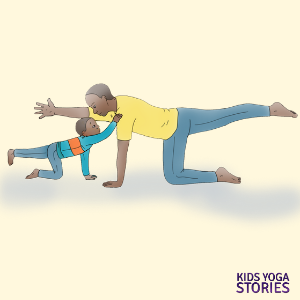 adult-child partner yoga poses for kids | Kids Yoga Stories