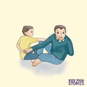 adult-child yoga poses for children and partners | Kids Yoga Stories
