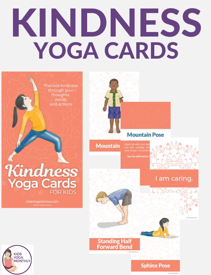 kindness yoga cards for kids | Kids Yoga Stories