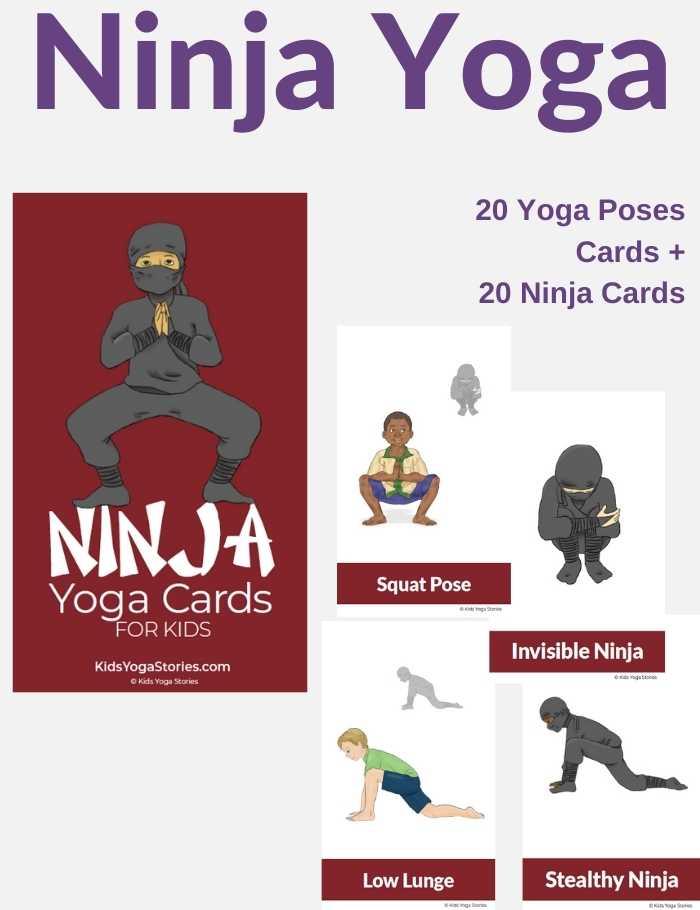 Ninja Yoga Cards for Kids | Kids Yoga Stories